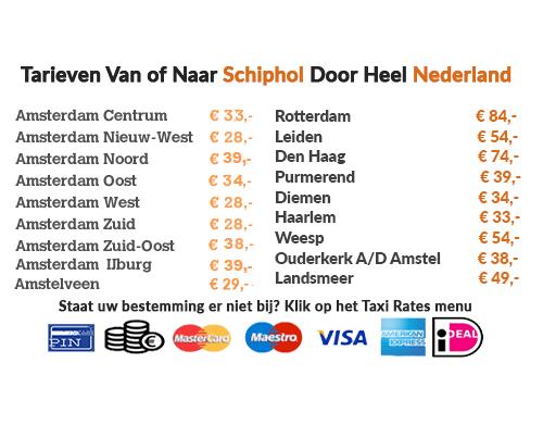 taxi-tarieven-amsterdam-schiphol